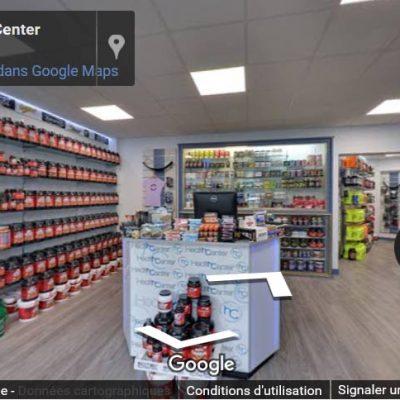 Visite virtuelle du magasin de protéines health Center Paris
